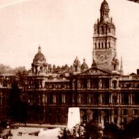 Vintage 1930s RPPC Glasgow Buildings United Kingdom Postcard Great Britain