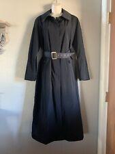 Women's London Fog Long Belted Trench Coat, Black, 10