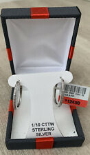 Sterling Silver Earrings Set With Diamonds BNIB
