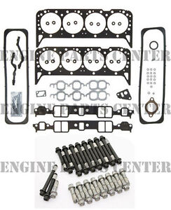 Chevy GMC 5.7 V8 350 VIN-K TBI 1987-96 Head Gasket Set+Head Bolts EHC99S+HS5746A