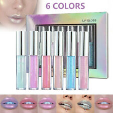 6pcs/set Mermaid Lip Gloss Shimmer Cosmetics Glitter Makeup Lipstick