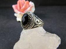 Silberring Männerring Siegelring Ring Sterlingsilber 925 Handarbeit Onyx Gr 69