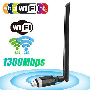 Dual Band 1300Mbps Bluetooth 5.0 Wireless USB Wifi Adapter Antenna for Desktop