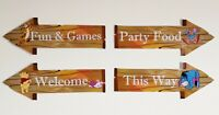 Winnie The Pooh Party Props Decorations Arrow Signs - Baby Shower Birthday Party