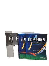 Abeka Economics Work & Prosperity Student, Teacher, Test & Key, .Retail -$105.00