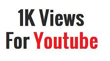 1K Views For YT | Fast & Safe | 0.5k Free Bonus Views
