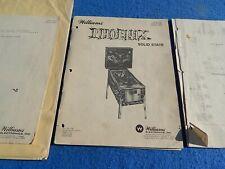 1978 Williams Phoenix service schematic, Instruction Manual & more