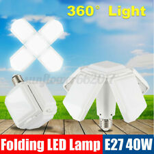 40W E27 LED Folding FourLeaf Light Garage Shop Home Fixture Deformable Bulb Lamp