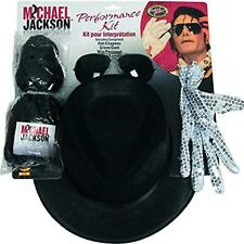 Michael Jackson Performance Kit Hat Glove Wig Glasses Dress Costume Accessory