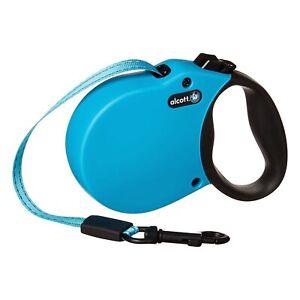 Alcott Flexi-ble Adventure Retractable Reflective Tape Dog Leash - Blue