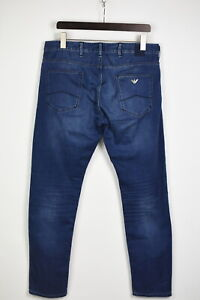 ARMANI J837U Men's US 34 Soft Material Regular Fit Blue Faded Jeans 35299_GS