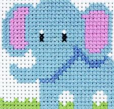 Elephant Counted Cross Stitch - Anchor 1st Kit