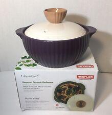 NEOFLAM stovetop Ceramica Pentole da 1.4 Quarti Viola Coperto Casseruola