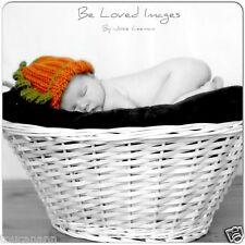CROCHET NEWBORN BABY PUMPKIN HAT - Great Photo Prop