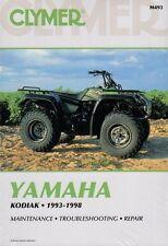 CLYMER SERVICE REPAIR MANUAL M493 YAMAHA KODIAK 400 4X4 1993 1994 1995 YFM400FW