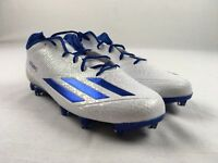 NEW adidas adizero Low - White/Blue Cleats (Men's Multiple Sizes)