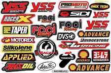 "D351 Sponsor Sponsors Racing Tuning Sticker Decal 1 Sheet 10,5""x7"" / 27x18 cm"