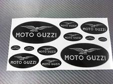 Kit Adesivi MOTO GUZZI BLACK & SIVLER 12 pz.