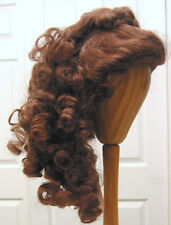 no bangs for girl /& lady dolls NEW LADY WIG Auburn size 15 long upswept curls