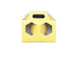 SCATOLA ASTUCCIO in cartone per 2 vasi miele da 1 kg (giallo) -OFFERTA 50 pezzi
