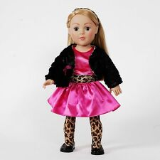 "Madame Alexander 18"" Dollie & Me Doll Pink Satin Dress Leopard Blinking Eye NEW"