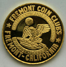 1986 Fremont Coin Club California 1.4 troy ounce 24k gold Coin Carriage House
