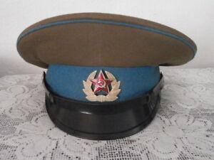 Antigua gorra de plato de tropa uso militar ejercito Unión Soviética Rusia URSS