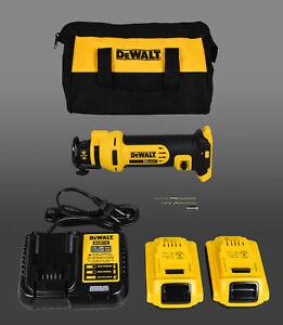 DeWalt DCS551D2 20V MAX Lithium Ion Cordless Drywall Cut-Out Tool Kit (2.0 Ah)