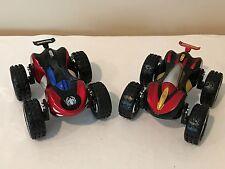 Marvel Spiderman and Iron Man, Set of 2 Superhero Flip Reversible Cars Toys
