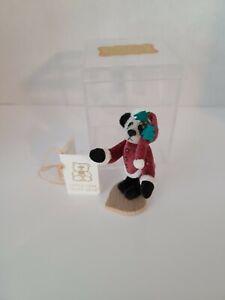 "LITTLE GEM 3"" SANTA PANDA TEDDY BEAR NIB"