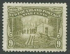 NEWFOUNDLAND #100 unused - engraved, perf 14