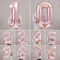 Giant Foil Number Rose Gold Helium Large Baloon Birthday Party Wedding decor Yu
