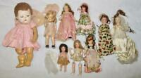 9 Composition Dolls Vintage Lot Circa 1950s Hollywood Vogue Alexander (O4) AS IS