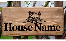 English Bulldog Boxer Dog Sign House Number Name Plaque Plate Personalised Porch