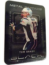 Tom Brady BLACK HEAVY METAL SP....CAPTAINS CARD !!