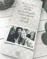 Chance Made us Colleagues Friends/FriendshipPersonalised Photo Gift Plaque P611