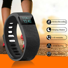 Pulsera Inteligente Bluetooth Smartband For IOS Android Phone Podómetros Negro