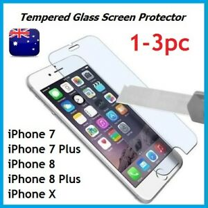 1-3Pack Scratch Resist Tempered Glass Screen Protector for iPhone 7 8 8Plus X