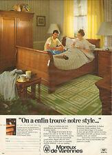 Publicité 1981  Meubles MOREUX de VARENNES