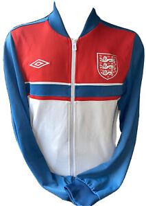 Retro Umbro England Rare Style Blue Tracksuit Anthem Jacket Sized Medium