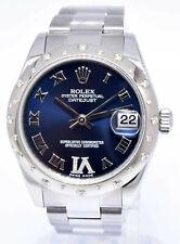 Rolex Datejust Steel & 18k Gold Diamond Bezel/Dial 31mm Watch Box/Papers 178344