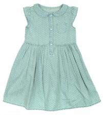 Vestidos de niña de 2 a 16 años de manga corta color principal azul 100% algodón