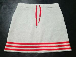 1 NWT WOMEN'S MOVETES SKIRT, SIZE: MEDIUM, COLOR: GRAY HEATHER/CORAL (J309)