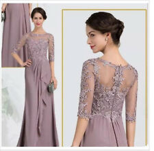 Chiffon Half Sleeve Mother of the Bride Dress Lace Elegant Wedding Evening Gown