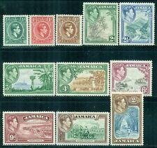 JAMAICA 116-26 SG121-31 MH 1938-51 KGVI Defin short set of 11 to 2sh Cat$44
