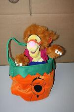 Disney Tigger Werewolf Plush Doll With Pumpkin Halloween Bag Rare HTF Used