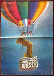 1980 Original Film Festival Poster Fest 80 Belgrade International YU Cinema