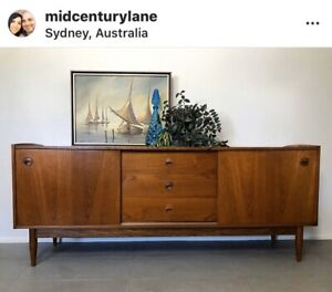 Parker Mid Century Danish Retro Sideboard Buffet Cabinet Credenza