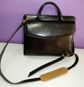 FRANKLIN COVEY black leather organizer bag + binder + shoulder strap NEW set