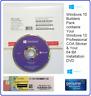 Microsoft Windows 10 Pro Professional 64-Bit System Builder Pack ( DVD + COA )